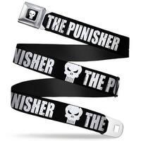 Marvel Universe Punisher Logo Full Color Black White The Punisher Bold W Seatbelt Belt