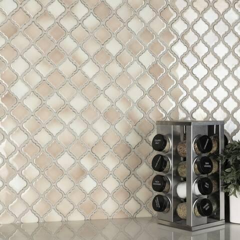 "SomerTile Hudson Tangier Truffle 12.38"" x 12.5"" Porcelain Mosaic Tile"