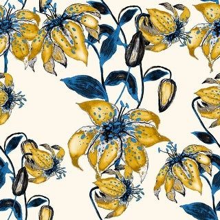 Summer Blossom Lily Removable Wallpaper - 24'' inch x 10'ft