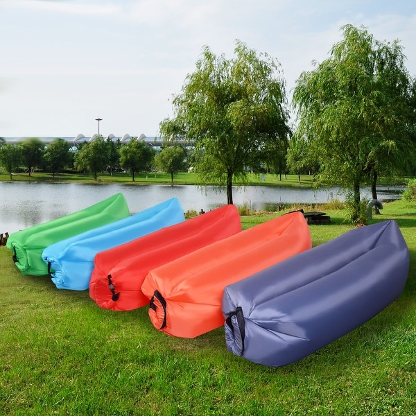 Air Sofa Camping: Shop Costway Outdoor Lazy Inflatable Couch Air Sleeping