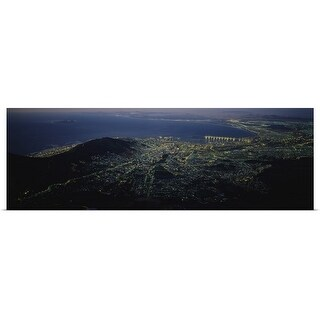 Poster Print entitled Aerial view of a city, Cape Town, South Africa - multi-color