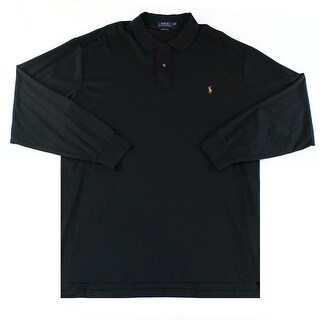 Polo Ralph Lauren NEW Black Mens Size 4XLT Soft-Touch Polo Rugby Shirt