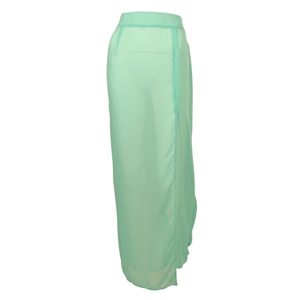 Miken Women's Maxi Skirt Swim Cover ups - Aqua Artic