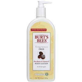 Burt's Bees Bees Shea Butter & Vitamin E Body Lotion, Fragrance Free 12 oz