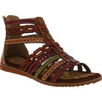 L'Artiste by Spring Step Women's Anjula Gladiator Sandal Camel Multi Leather