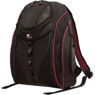 """""""Sumo MEBPE72 SUMO Express Carrying Case (Backpack) for 17"""" MacBook, Notebook - Black, Red - Ballistic Nylon - Shoulder"""