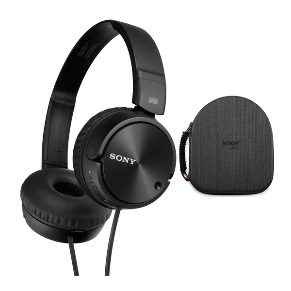 Sony MDRZX110NC Noise Cancelling Headphones with EVA Headphone Case. Opens flyout.