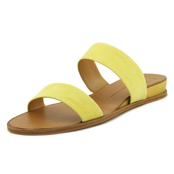 Dolce Vita Pris Women Open Toe Synthetic Yellow Slides Sandal