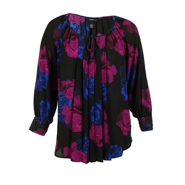 Alfani Women's Long Sleeve Floral Print Blouse