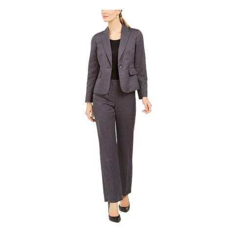 LE SUIT Gray Blazer Straight leg Pant Suit 16