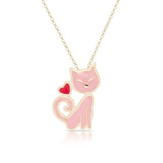 Lily Nily Girl's Pink Cat Pendant