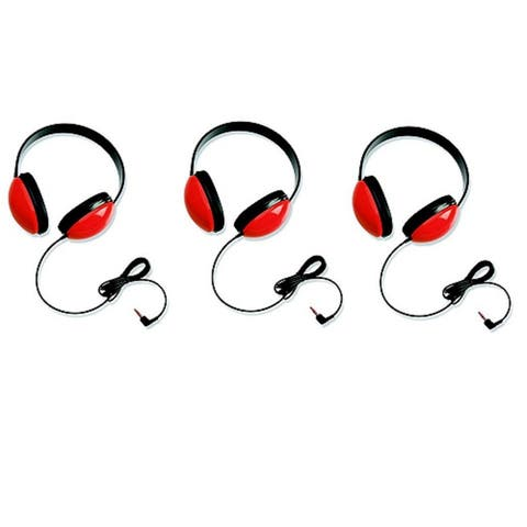 Califone Listening First Stereo Headphones for Kids (Red) (Set of 3)