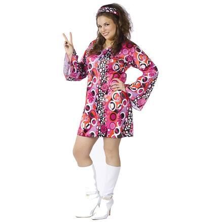 Fun World Feelin' Groovy Plus Size Costume - X-Large