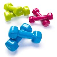 Black Mountain Products Vinyl Dumbbell Set Combo