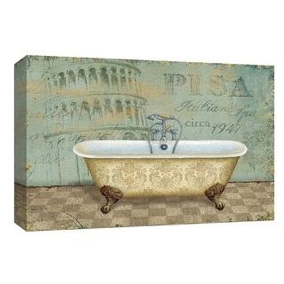 "PTM Images 9-153968  PTM Canvas Collection 8"" x 10"" - ""Voyage Romantique Bath II"" Giclee Bathroom Art Print on Canvas"