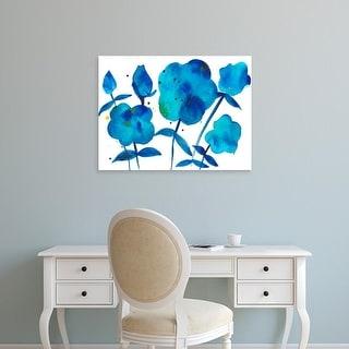 Easy Art Prints Alicia Ludwig's 'True Blue II' Premium Canvas Art
