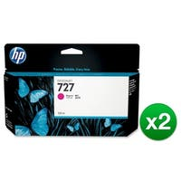 HP 727 130-ml Magenta DesignJet Ink Cartridge (B3P20A) (2-Pack)