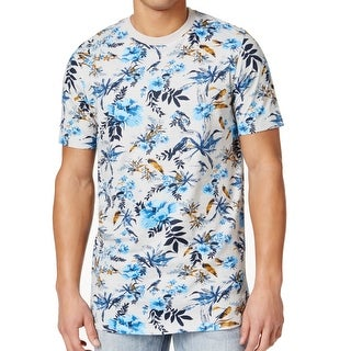 Sean John NEW Light Gray Mens Size 3XL Crewneck Graphic Tee T-Shirt
