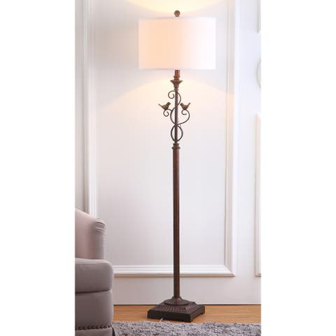 """SAFAVIEH Lighting 61-inch Birdsong Oil-Rubbed Bronze Floor Lamp - 15""""x15""""x61"""""""