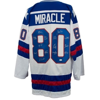 1980 Team USA Miracle On Ice Team Signed Custom Jersey W 14 Signatures JSA ITP