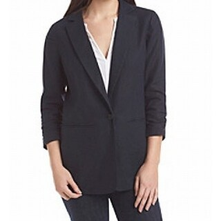 Michael Kors NEW Blue Navy Women's Size 10 Ruched Sleeves Jacket