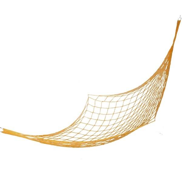 Travel Camping Orange Nylon String Knot Netty Hammock Sleep Swing Bed