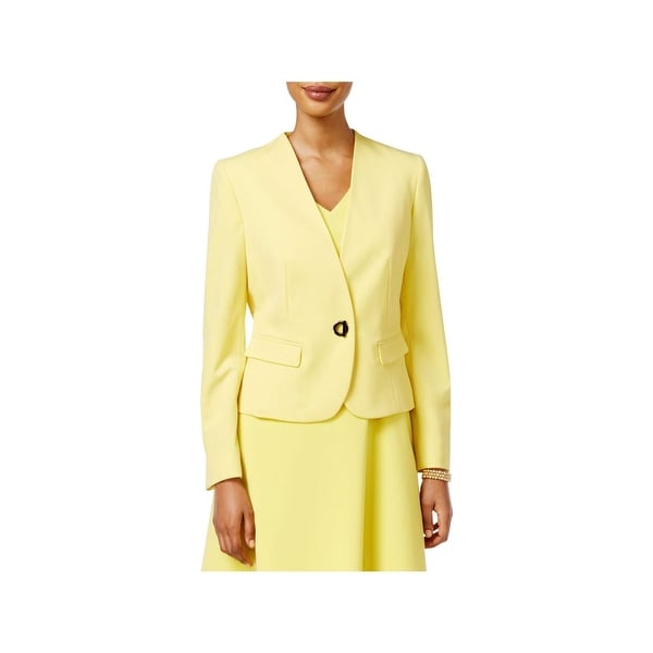 Nine West Womens Collarless Blazer Long Sleeves Turn Key