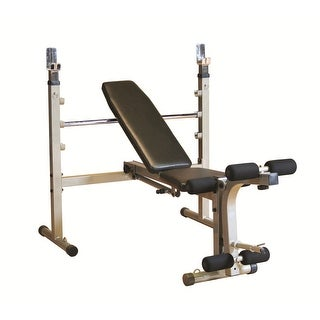 Best Fitness Olympic Bench with Leg Developer - Black