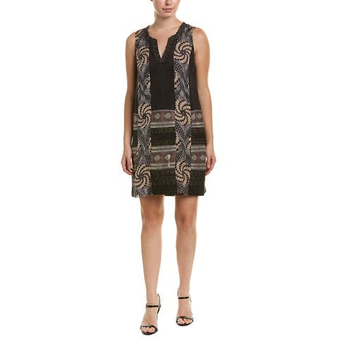 Anna Sui Shades Of Psychedelia Silk-Blend Shift Dress - STONE MULTI