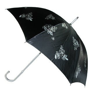 Leighton Floral UV Protection 50+ Stick Umbrella - black floral - One Size