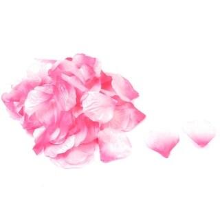 100 Pcs Wedding Bedroom Party Detail Emulational Fabric Rose Petals Fuchsia Pink