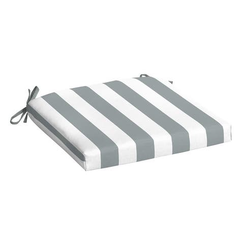 Arden Selections Cabana Stripes Outdoor 18 x 19 in. Seat Pad
