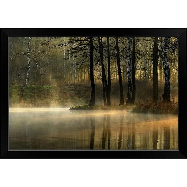 """""""Silent Light"""" Black Framed Print"""