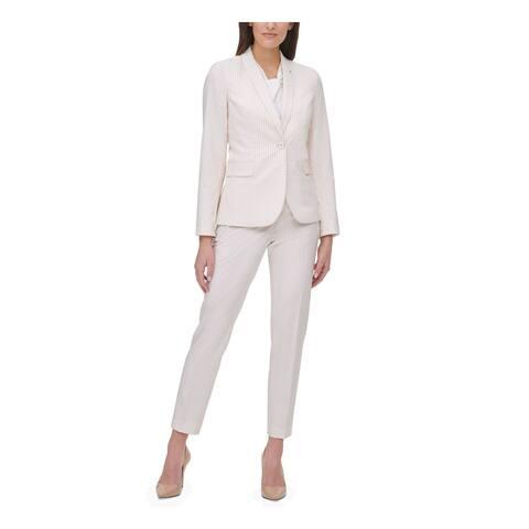 TOMMY HILFIGER Womens Pink Pinstripe Blazer Jacket Size 14