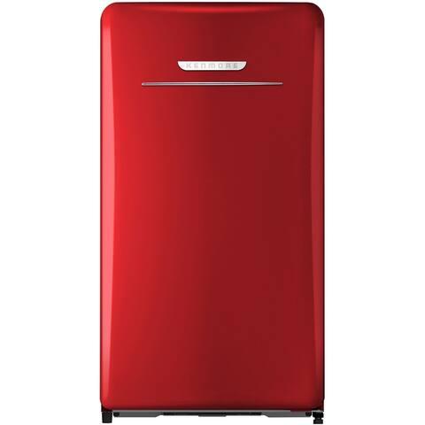 Kenmore 4.4-Cu. Ft. Retro 1-Door Compact Refrigerator, Red