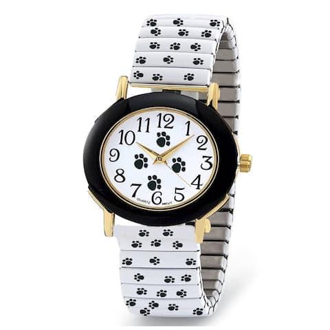 Paw Print Printed Stretch Band Watch