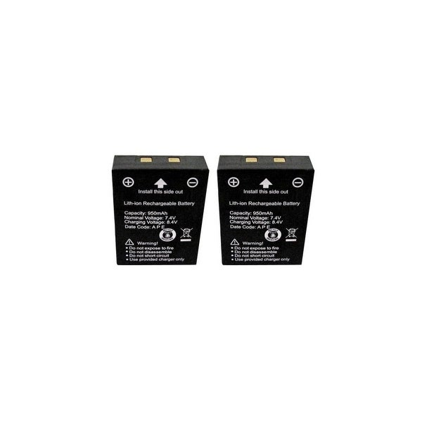 New Replacement Battery for Cobra Two-Way Radios BK70128 BK-71216 FRS-001-LI 2 pack