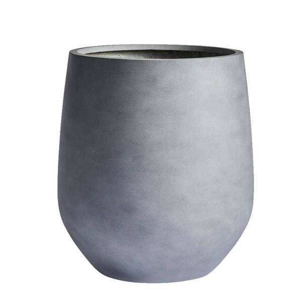 DreamPatio La Mirada 1-Piece Fiberstone Tappered Planter
