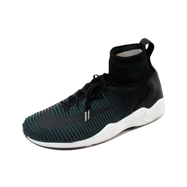 Nike Men's Zoom Mercurial XI Flyknit FC Black/Black-Hasta-Seaweed 852616-001