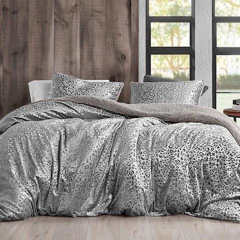 Primal Leopard - Coma Inducer Oversized Duvet Cover - Silver Black