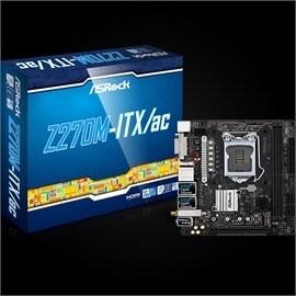 ASRock Motherboard Z270M-ITX/ac Core i7/5/3 Z270 S1151 DDR4 SATA PCI  Express Mini-ITX Retail
