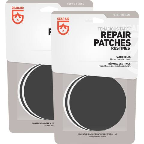 Gear Aid Tenacious Tape Repair Patches 2-Pack - Clear/Black - One Size