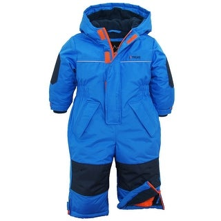 iXtreme Baby Boys Snowmobile Polar Fleece Lined One Piece Winter Solid Snowsuit
