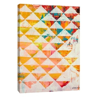"""PTM Images 9-105482  PTM Canvas Collection 10"""" x 8"""" - """"Triangular Configurations 1"""" Giclee Abstract Art Print on Canvas"""
