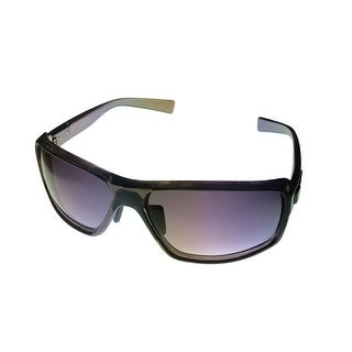 Kenneth Cole Reaction Mens Plastic Sunglass Black / Solid Smoke Lens KC1224 1A - Medium