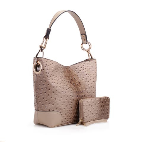 MKF Collection Wandy Soft Vegan Leather Hobo & Wallet by Mia K.