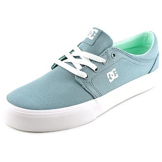 DC Shoes Trase TX Women Round Toe Canvas Green Skate Shoe