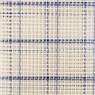 "36""X60"" Blue Checked - Zweigart Rug Canvas 36""X60"" 3.75 Mesh"