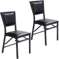Costway Set of 2 metal Folding Chair Dining Chairs Home Restaurant Furniture Portable