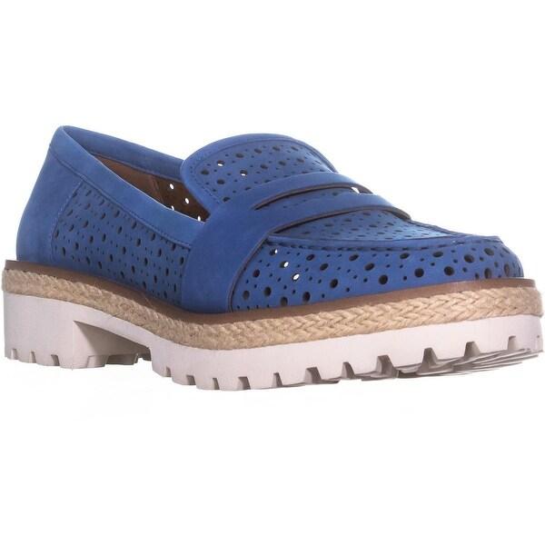 Nine West Gradskool Perforated Loafers, Blue - 9 us